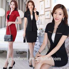 Custom new style best office uniform designs skirt suits for women wholesale