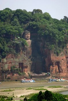 The Giant Buddha of Leshan is the tallest stone Buddha statue in the world, carved out of a cliff face by an 8th-century monk in southern Szechuan province.