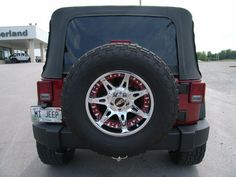 Cumberland Customs 2012 Jeep Wrangler Unlimited Soft Top Maroon and Chrome, Rear 2012 Jeep Wrangler, Jeep Wrangler Unlimited, Once A Marine, Keys, Chrome, Car, Automobile, Key, Vehicles