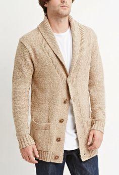 Marled Shawl Collar Cardigan | 21 MEN - 2000174486