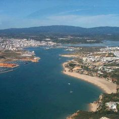 Portimão, Ferragudo, the Rio Arade and the hills of Monchique in the background. (Algarve. Come and Live Here)