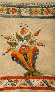 Rosemaling Pattern, Contemporary Decorative Art, Norwegian Rosemaling, German Folk, Swedish Decor, Russian Folk Art, Scandinavian Folk Art, Witch Decor, Art Uk