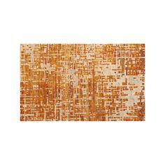 Celosia Orange Rug  | Crate and Barrel