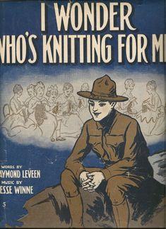I Wonder Who's Knitting for Me sheet music cover