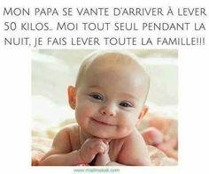 Mon #papa se vante d'arriver à #lever 50 #kilos , moi tout #seul pendant la #nuit je fais lever toute la #famille !!! #humour #blague