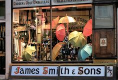 James Smith & Sons for umbrellas that will brighten up a rainy day