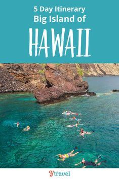 Planning on visiting Hawaii? Here is a 5 day itinerary for tips on things to do on the Big Island of Hawaii including where to stay and eat. Don't miss swimming with the manta rays in Kona, and the volcanoes, for an incredible Hawaii vacation! #Hawaii #vacation #traveltips #travel #familytravel