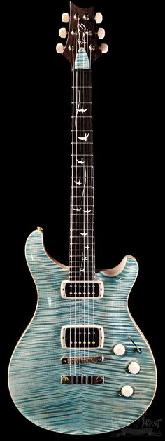 PRS Paul Reed Smith DC245 Private Stock 5122 Double Faded Turquoise