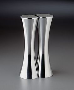 "Nambe ""Kissing"" Salt and Pepper Shakers ........love Nambe...db"