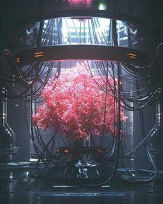 Cyberpunk Online — elayesildogan: Wire Tree by Cyberpunk City, Ville Cyberpunk, Cyberpunk Kunst, Cyberpunk Aesthetic, Futuristic City, Cyberpunk Tattoo, Neon Aesthetic, Cyberpunk Fashion, Cyberpunk 2077