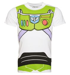 Mens Toy Story Buzz Lightyear Costume T-Shirt Join the ranks of the Intergalactic Alliance with this awesome Buzz Lightyear costume tee! Designed to look just like the suit worn by everyones favourite space ranger. To infinity and beyond! http://www.MightGet.com/february-2017-3/mens-toy-story-buzz-lightyear-costume-t-shirt.asp