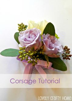 DIY corsage (could also be used for boutonnieres) on my friend Rachael's blog :)
