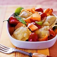 Delicious Garden Ravioli Recipie - Perfect for weight loss! Only 278 Calories!
