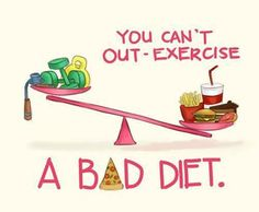 A good diet is just as important to your health as regular exercise, don't you think?