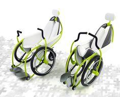 Modern foldable wheelchair.