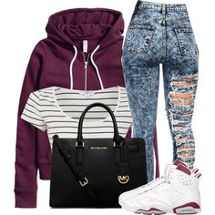 A fashion look from February 2015 featuring H&M jackets and Michael Kors handbags. Browse and shop related looks.