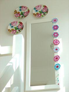 hmmm, where to put a pretty crochet flower hanging strip????
