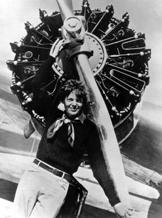 Amelia Earhart (July 24, 1897 – disappeared in 1937) is arguably the most famous aviatrix in history.  The first woman to cross the Atlantic solo, and only the second person to do it successfully, the notoriety from Earhart's many feats in the air were trumped only by the mystery surrounding the loss of her plane while she attempted to circumnavigate the globe in 1937.