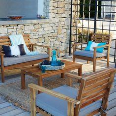 salon de jardin 4 pices acacia wilma la redoute interieurs prix avis - Salon De Jardin Mtal Color