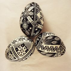 Lenten Pysanky Egg Wheat Black and White by GoldenEggPysanky