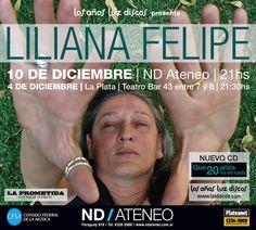 Liliana Felipe. Afiche via pública para recital. Diseño Carlos Carpintero.
