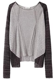 Helmut Lang transparent melange pullover. Can you say weekends?