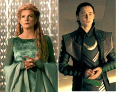 """I was watching again """"Thor"""" and I saw that Loki has the same nervous gesture like his Mother ! The same manner when they are nervous and what they do to share their emotions. << Wow!"""