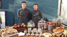 Guidi Lenci professional waiters at Scotch and Soda stand at Pitti Bimbo 2016 - rustic tea corner with fresh vegetable, candy peal oranges, caramelised apple, cinnamon sticks, anis starts, vegetable chips and pop corn. handmade #guidilenci All Rights Reserved GUIDI LENCI www.guidilenci.com