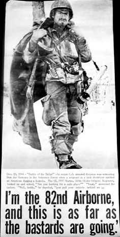 82nd Airborne Division in the Battle of the Bulge.