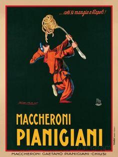 Maccheroni Pianigiani, 1922 Poster by Achille Luciano Mauzan at AllPosters.com