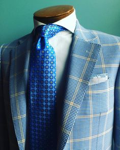 """At """"A Stylish Way Of Life"""" it is never too early to start thinking about spring.  This beautiful royal blue and soft yellow sport coat is just one of the many spring/summer fabrics we are now offering.  Make you appointment today by calling 202-731-1815.  #bespoke #summerstyle #sartorial #sprezzatura #styleinspiration #stylish #luxurylife #luxury #luxurylifestylemagazine #dapper #gentleman #gentlemanstyle #pocketsquare #handmade #properfit #tailored #tailoredmade #stylejournal…"""