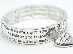 'Mother's Prayer Bracelet Silver Tone' is going up for auction at 10am Thu, Oct 11 with a starting bid of $6.