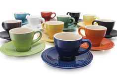 Le Creuset Espresso Cups and Saucers