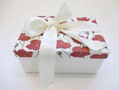 Box Kasten Schachtel Mohn von your_paperqueen auf DaWanda.com