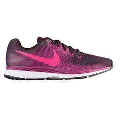 Nike Air Zoom Pegasus 34 - Women's-Port Wine/Deadly Pink/Tea Berry/Black