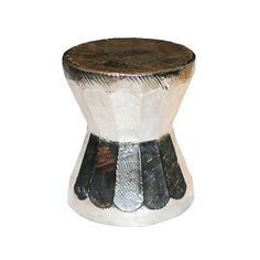 Buy Metallic Glazed Porcelain Mortar Stool / Side Table by Tucker Robbins - Side Tables - Tables - Furniture - Dering Hall