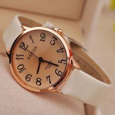 New Style Shiny PU Leather Women Watches 2016 Fashion Large Numeral Wristwatch Simple Casual Quartz Watch Relojes Clock Women