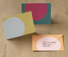 Our large circle labels look great folded over envelopes.