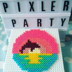 Home Decor 4 Fuse Beads, Perler Beads, 8 Bit Art, Summer Colors, Summer Vibes, Pixel Art, Insta Art, Ava, Coasters