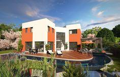 Maison - Scenio - Les Maisons Barbey Maillard - 258000 euros - 159 m2 | Faire construire sa maison Terrain Constructible, Architecture Design, Mansions, House Styles, Inspiration, Plans, Home Decor, Scale, Extension