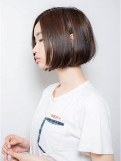 keep hair design 【keep hair design】黒髪ボブ×前髪なし【by三橋】
