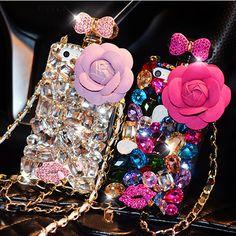 Luxury LOGO Chain 3D Diamond Phone Case Rhinestone Bling Cover Fundas for iPhone 6s 6 7 plus 5S 5 SE 5C 4S 4 coque capa | iPhone Covers Online