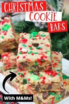 Potluck Desserts, Holiday Cookies, Christmas Desserts, Holiday Treats, Christmas Treats, Christmas Baking, Christmas Recipes, Christmas Foods, Holiday Baking