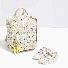 splatter toddler backpack + trainers--Zara More