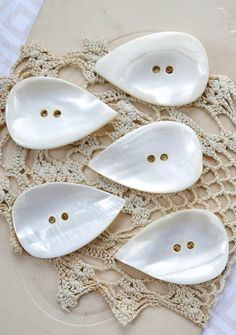 Vintage MOP tear drop buttons