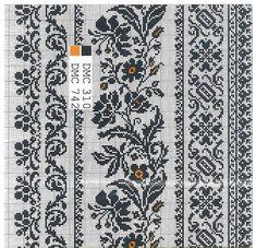 Ж5 Cross Stitch Borders, Cross Stitch Samplers, Cross Stitch Embroidery, Cross Stitch Patterns, Knitting Charts, Knitting Stitches, Needlepoint Patterns, Embroidery Patterns, Palestinian Embroidery