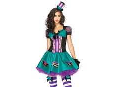 Womens Mad Hatter Halloween Costume