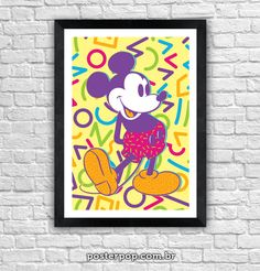 """Poster """"Mickey Colors"""""""