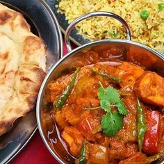 Indian curry and naan