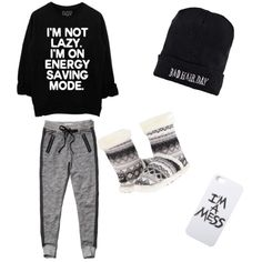 Lazy day outfit by brianna-constable on Polyvore featuring polyvore fashion style Abercrombie & Fitch M&F Western LAUREN MOSHI Boohoo